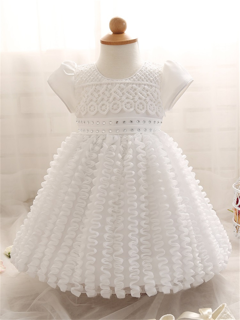 Top Quality Kid Girl Dress Baby Clothing Brand Ceremonies Party Dresses Girls Clothes Costumes For Girl Wedding Christening Gown(China (Mainland))