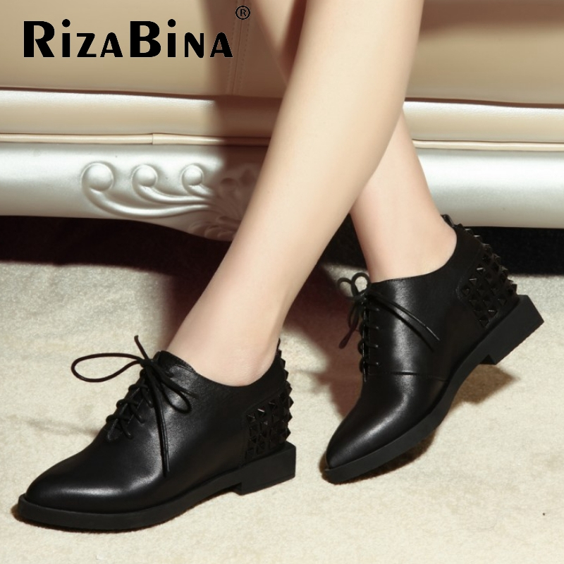 women real genuine leather party casual flats leisure shoes sexy fashion brand ladies shoes Zapatos Mujer size 34-40 R5679<br><br>Aliexpress