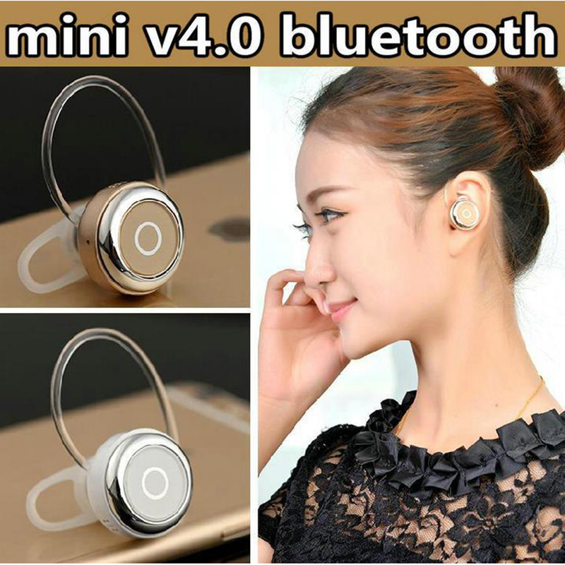 High Quality CSR4 0 Q3Ear Hook Stereo Headphone Voice Control Mini font b Wireless b font