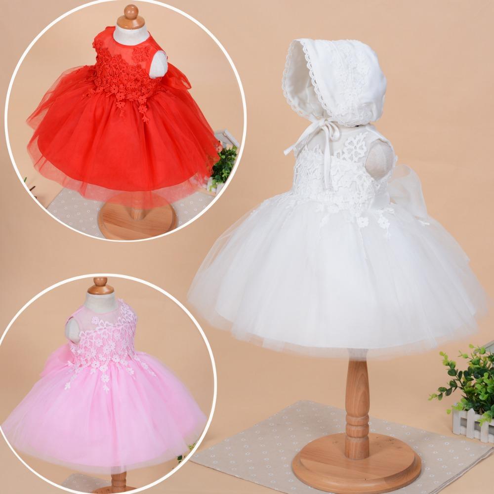 2pcs/set baby girl dress newborn baby girl baptism dresses 1 Year Birthday Dress for Baby Girl Chirstening Dress for Infant(China (Mainland))