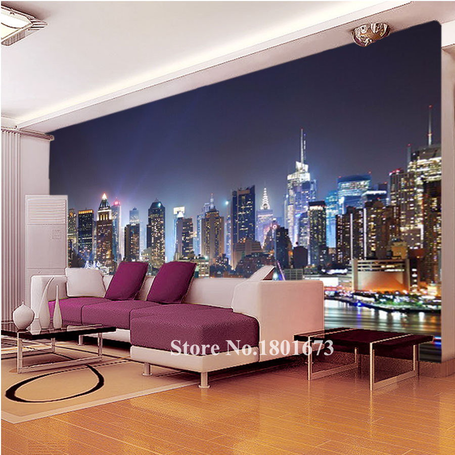 New york city wallpaper for bedroom the for Black and white new york mural wallpaper