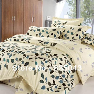 freeship high quailty natural 4pcs bedding sets 100 cotton christmas bedding set king size. Black Bedroom Furniture Sets. Home Design Ideas