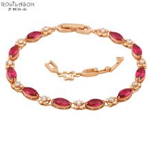 Red Design AAA Zircon & Garnet Crystal 18K k Gold Plated Bracelets Health Nickel & Lead free Fashion jewelry TB120(China (Mainland))