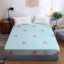 BEST.WENSD New 1pcs Ginkgo leaf Fitted Sheet bedding set Super soft comfortable bedspread Full/Queen/King Breathable no fading(China)
