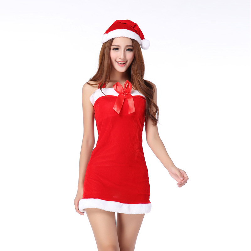 Womens Red Christmas Dress hd image