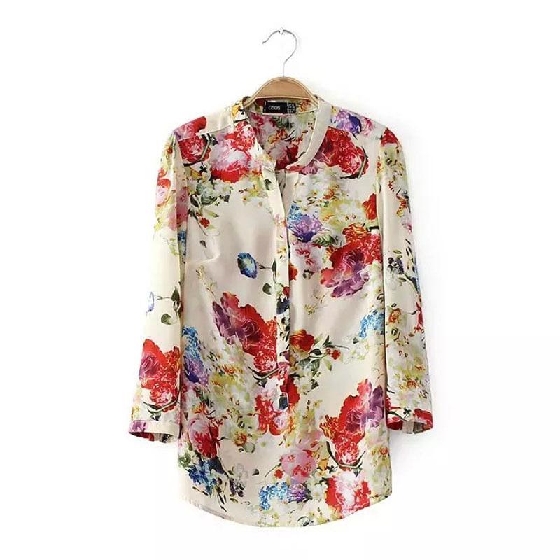Блузка С Цветочным Принтом Купить Самара