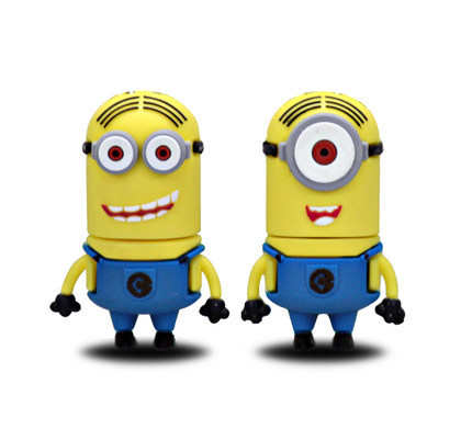 Promotions Pendrive Despicable Me Minions Pen Drive Cartoon Usb Flash Drive 8gb 32gb Memory Stick Real Capacity Free Shipping(China (Mainland))