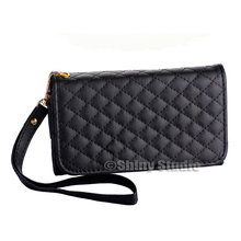 New Fashion Lady Women Multifunctional PU Leather Coin Card Wallet Purse Phone Bag Case Cover For Blackberry 9650(China (Mainland))