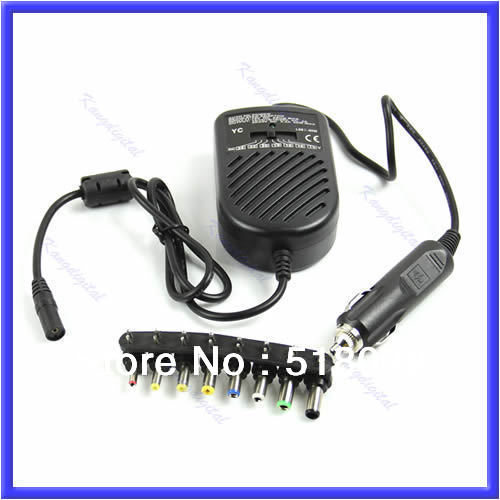 E79 Free Shipping Universal DC 80W Car Auto Charger Power Supply Adapter Set For Laptop Notebook(China (Mainland))