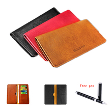 New Arrival PU Leather Wallet Pouch Cover For Cubot H1 Case Fashion Universal 5.5 inch Mobile Phone Bags+Pen