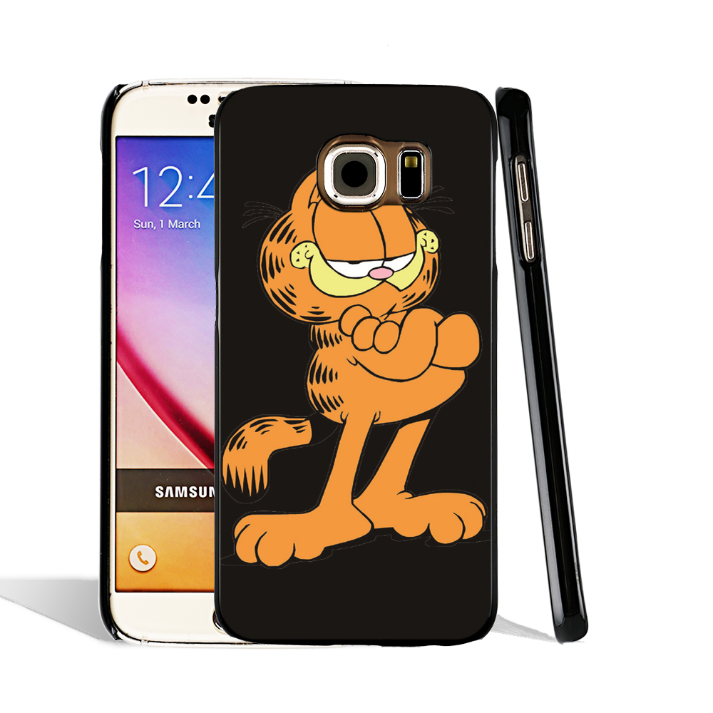 06193 Garfield Gif cell phone case cover for Samsung Galaxy S7 edge PLUS S6 S5 S4 S3 MINI(China (Mainland))