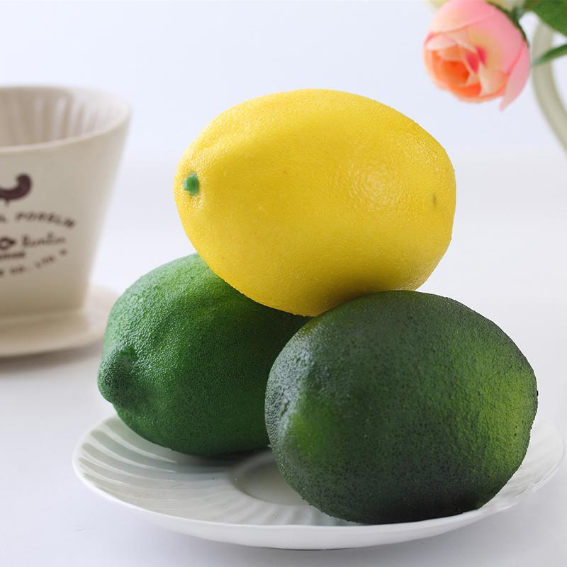1 PCS Fake Artificial Lemon Fruit Model House Kitchen Party Decorative Mold Beautiful Design Party Decoration 2 colors(China (Mainland))