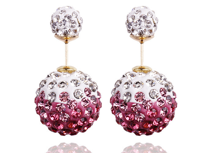 Fashion Charming Crystal Ball Earrings For Women Colorful beads  earring jewelry for women 2015 hot Free shipping<br><br>Aliexpress