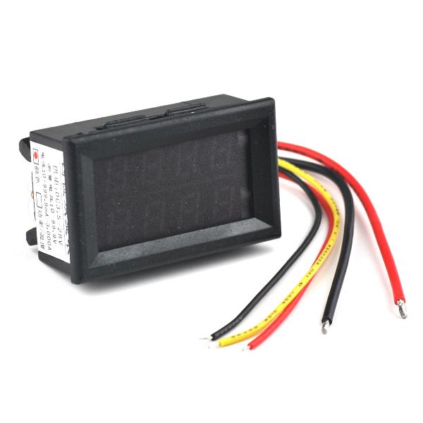 DC 100V 3A Dual Display 2 Function Red LED Digital Panel Meter Voltmeter Ammeter Voltage Current Meter Amp AMP Volt 4 Digits NEW(China (Mainland))