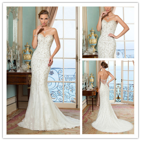 New luxurious beaded dubai wedding dresses sexy low back for Beaded low back wedding dress