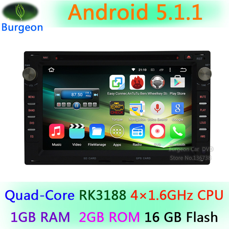 Car dvd Android 5.1.1 Quad Core 1024*600 for VW Volkswagen Jetta Polo Sharan Passat b5 Golf GPS Navigation Radio Stereo System(China (Mainland))