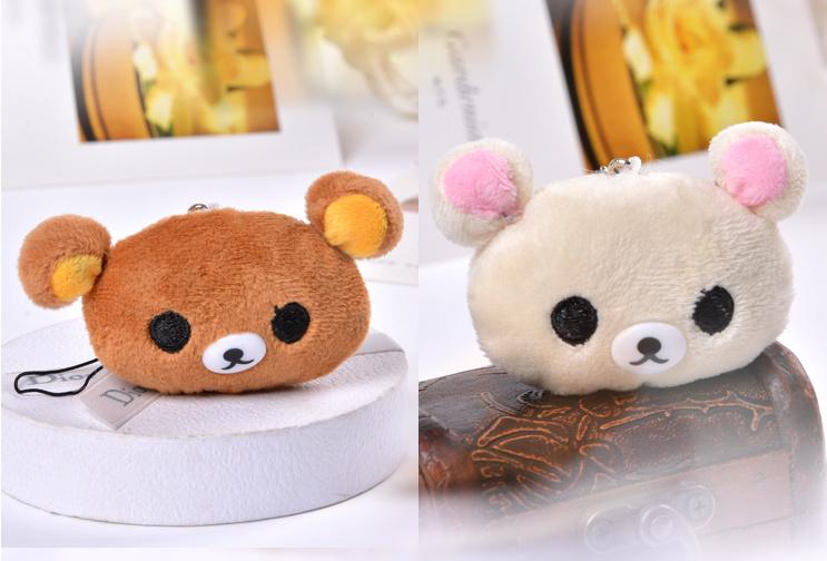 Kawaii Cute 2Colors- Little 4CM San-x Rilakkuma Bear Plush Stuffed TOY DOLL , Pendant Wedding Bouquet Plush Toys Dolls(China (Mainland))