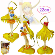 Mifen Craft Hot Anime Sailor Moon Figures Venus Minako Aino Festa Cat PVC Action Figurine dolls Boxed Christmas Gifts 22cm