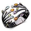 63 mm Diameter big fashion bracelet Bangles colorful stone black indian Bangles new design Free shippment