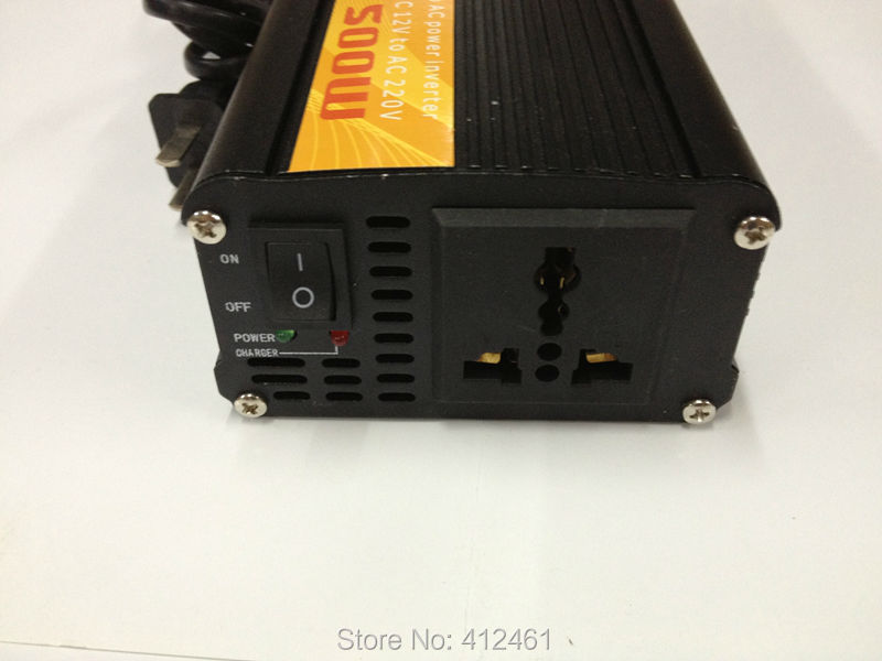 Фотография 500W solar power inverter with charger dc 12v to ac  Power Sine Wave Inverter 500W With Battery Charger