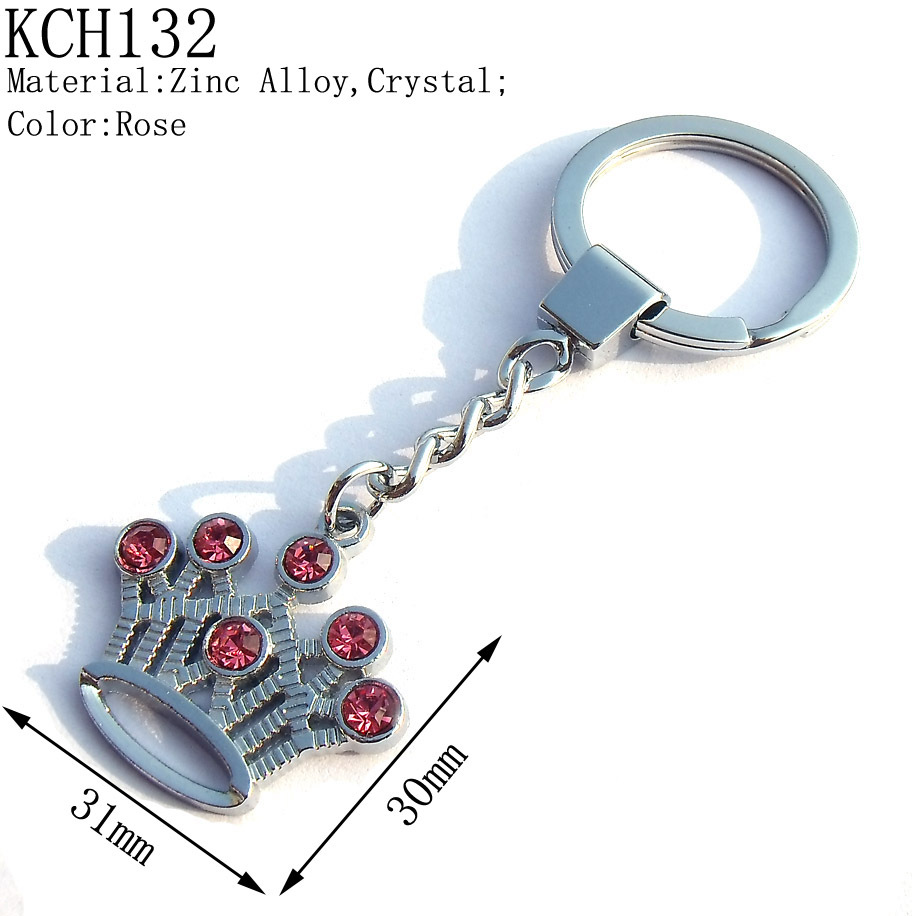 Christmas Gifts,30mm Girls Fashion Crystal Silver Tone Metal Crown Charms Keychains,Promotion Keychains,Free Shipping 130pcs/lot<br><br>Aliexpress