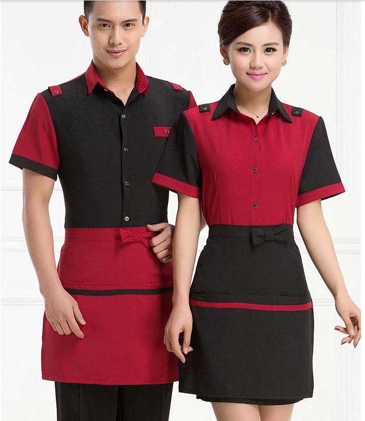 Damen Kleid Anzug Weste Formell Arbeit Tank Uniform Café bar Kellnerin