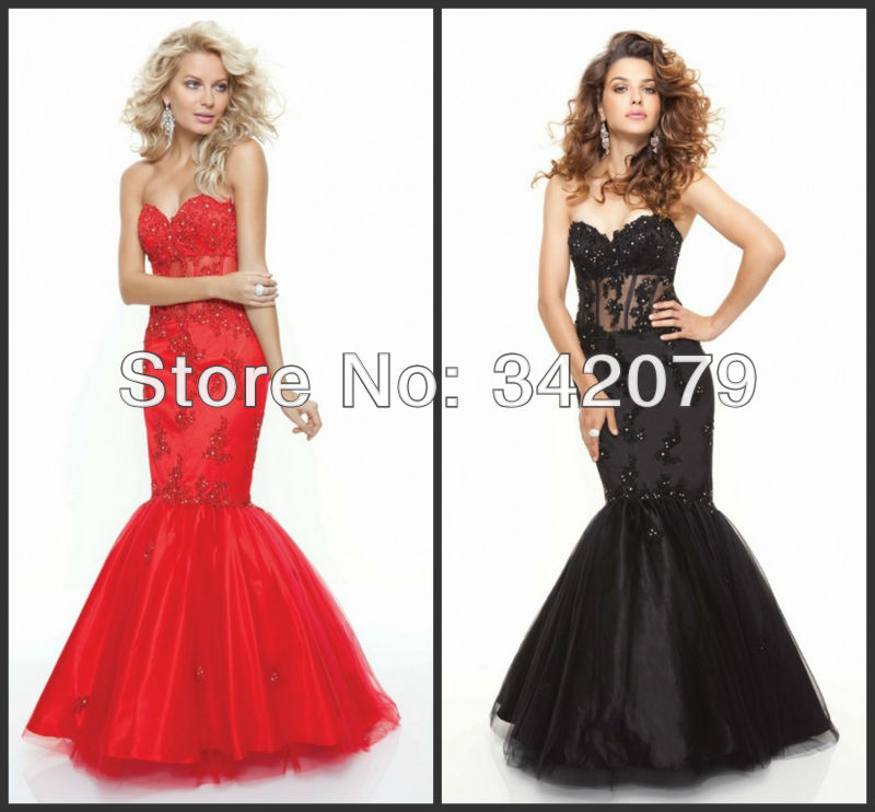 ph08135 new arrival custome made lace appliques on the net mermaid dress mermaid prom dress(China (Mainland))