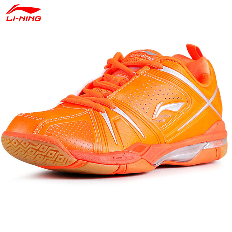 2015 Li-Ning Women Professionals Badminton Shoe Orange Hard-Wearing Encapsulated Women's Tennis Sport Shoe Lining AYAJ004(China (Mainland))