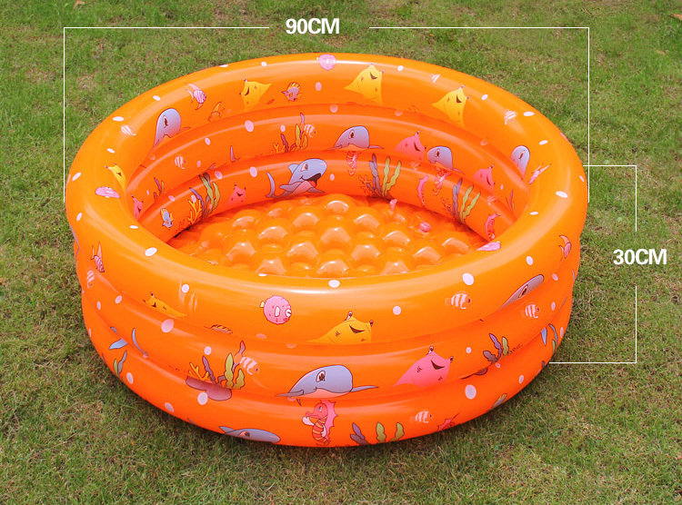 Children's inflatable pool high quality environment PVC inflatable pool, non-toxic, double inflatable Crystal bottom(China (Mainland))