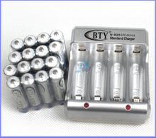 4 шт AA 3000 mAh 1,2 V перезаряжаемый аккумулятор Ni-MH + 1 usb-зарядное устройство