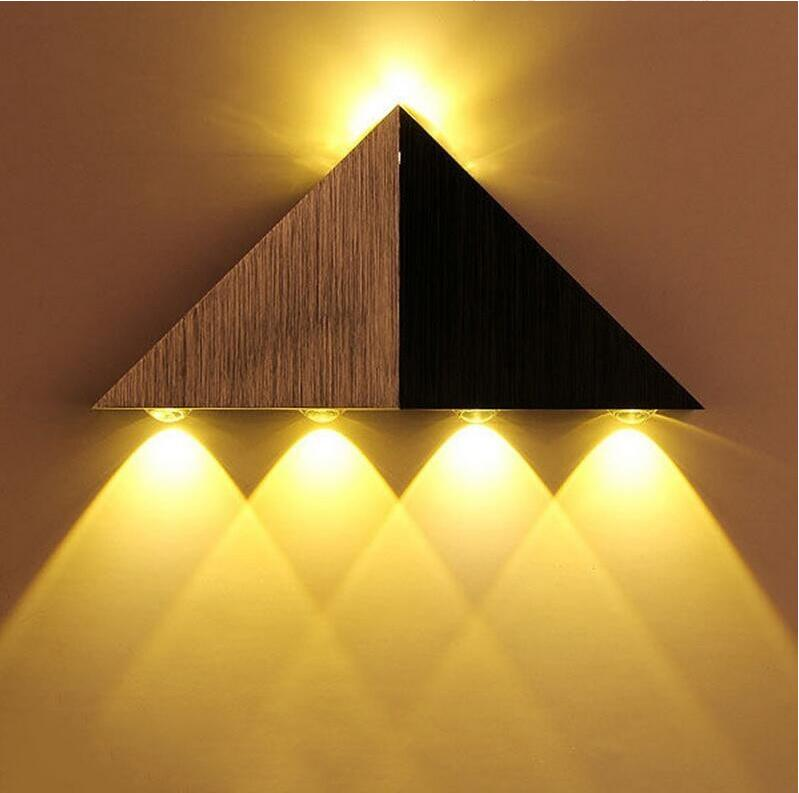 5w triangle up down aluminum led wall lamp living room