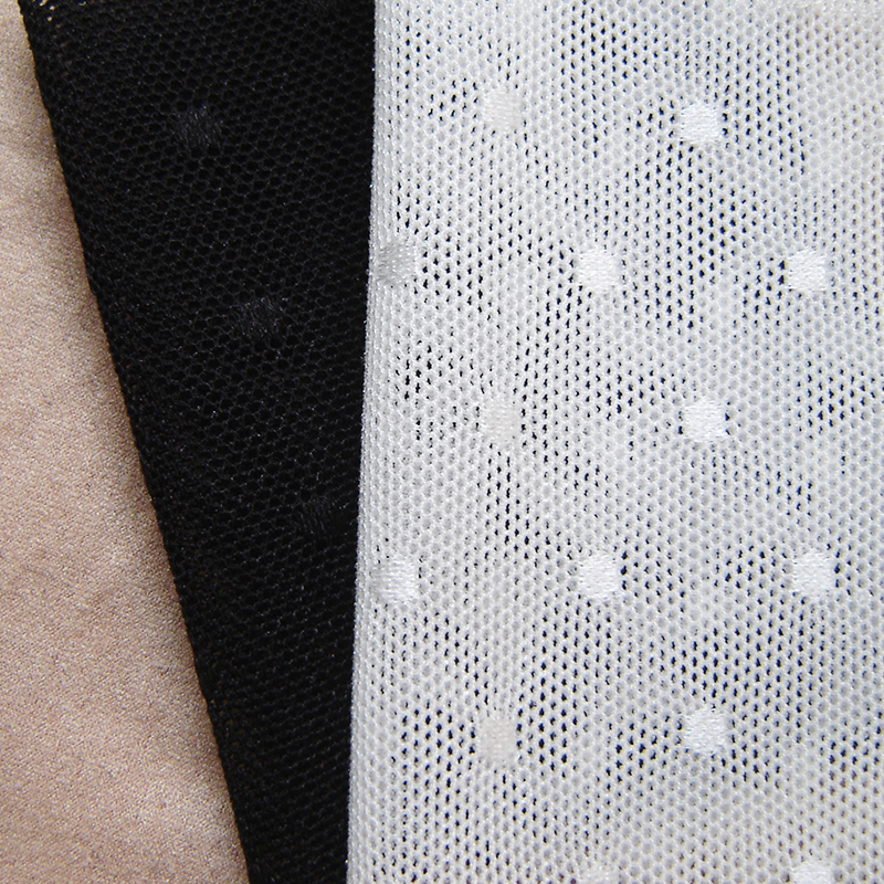 black lace fabric elastic stretch mesh tulle fabric,white high stretch tissue mesh cloth, for lingerie,leggings,tank,blouse(China (Mainland))