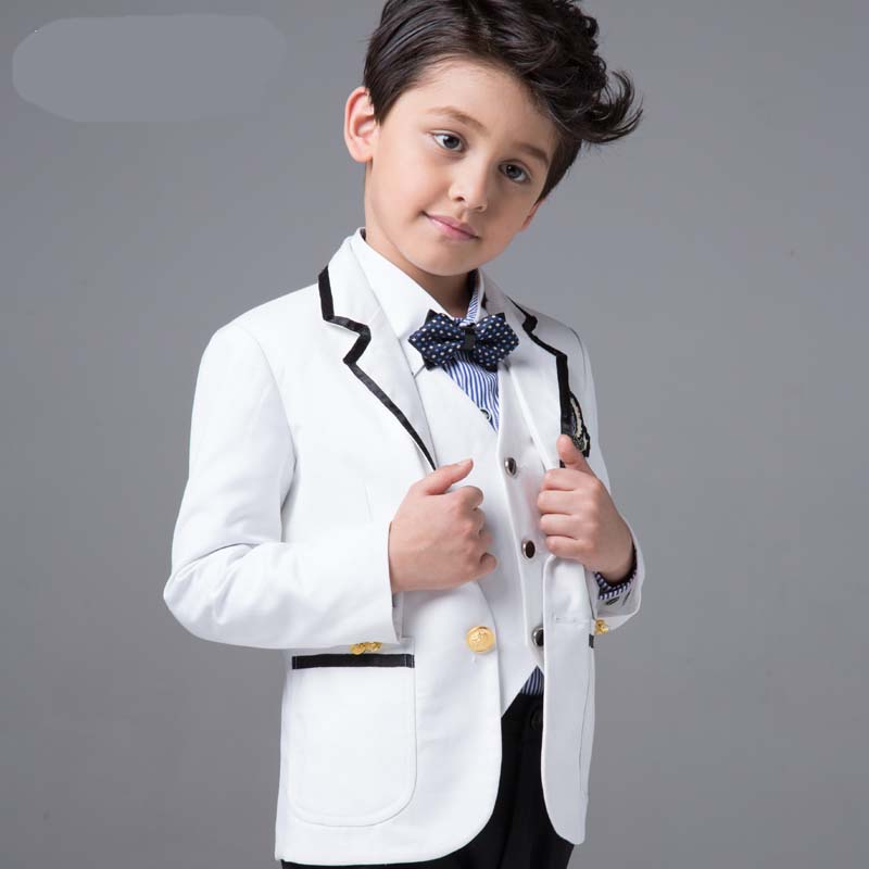 Boys Suits For Weddings Birthday Party spring and autumn set 4pieces baby boy suit vest gentleman clothes formal clothing(China (Mainland))