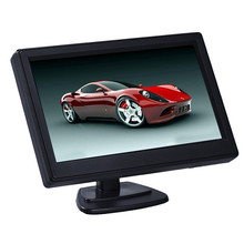 Scolour 1pc 5 Inch High Resolution HD 800X480 Car TFT LCD Monitor Screen 2ch Video(China (Mainland))