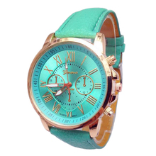 Hot sale women's quartz watches Leather strap wristwatchs men Clock relogio masculino gift Most areas free shipping 10 colors