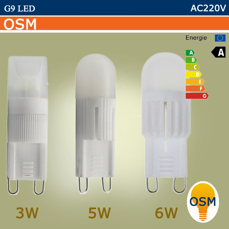 MINI LED Lamp G9 220V 3W 5W 6W LED G9 Bulb Lamp Ceramic Crystal High Power High Transmittance 360 Degree Spot Light(China (Mainland))