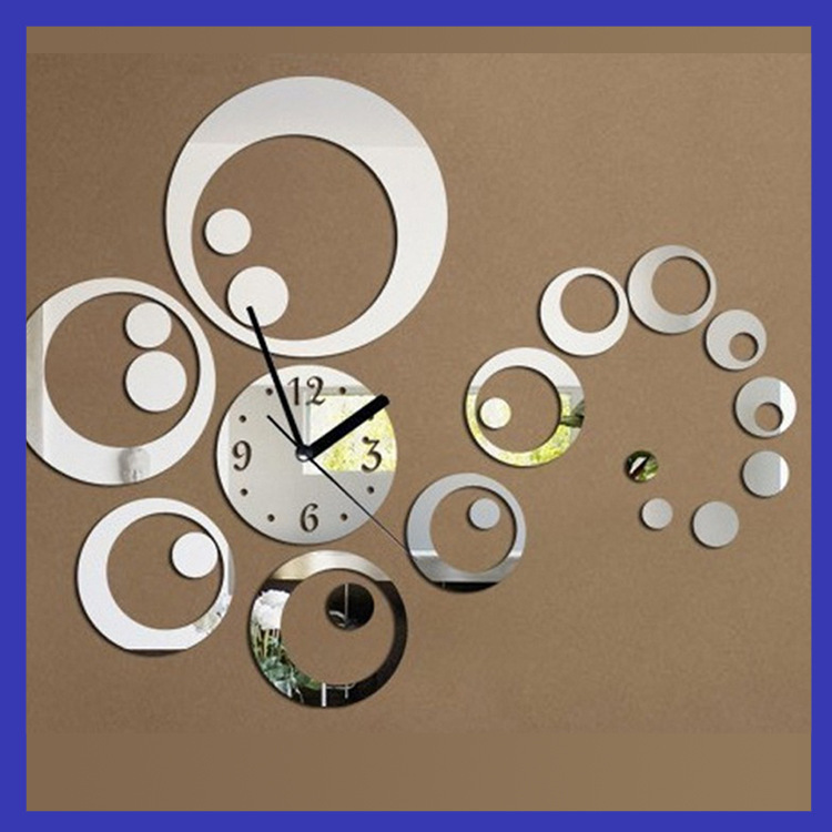 Home decor large decorative wall clocks circle design for Plaque decorative murale
