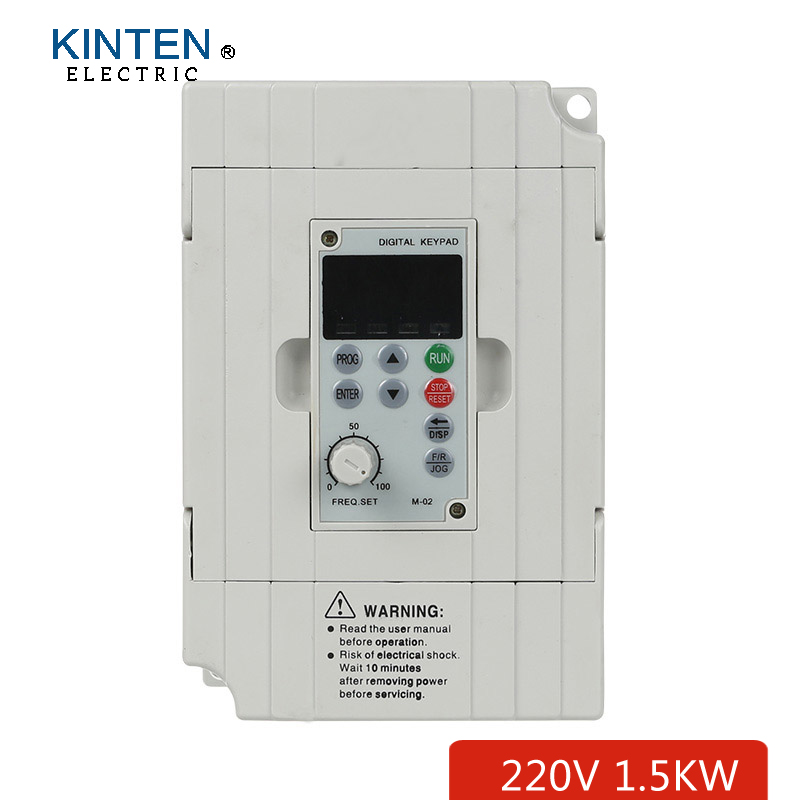 Single phase AC 220v 1.5kw input and 220v 3 phase output vector Frequency converter drive match for ac motor(China (Mainland))