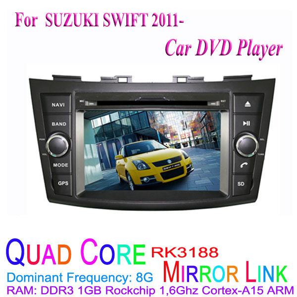1024*600 Quad Core Android 4.4.4 Fit SUZUKI SWIFT 2011 2012 2013 2014 2015 Car DVD Player GPS TV 3G Radio(China (Mainland))