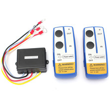 High Quality 3pcs/Set DC12V Universal Car Wireless Winch Remote Control With Twin Handset Two Matched Transmitters(China (Mainland))