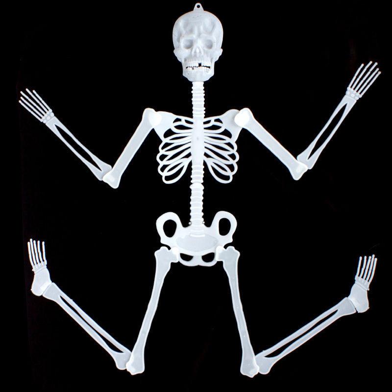 Horror Luminous Movable Skull Skeleton Halloween Props Glow Evil Party Favors fantasia halloween eve Scary Halloween Decoration(China (Mainland))