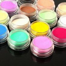 12 PCS/Set Acrylic Powder Liquid Nail Glitter Dust Color Acrylic Powder Multicolor Nail Art Dust Pigment Decoration For Tips(China (Mainland))