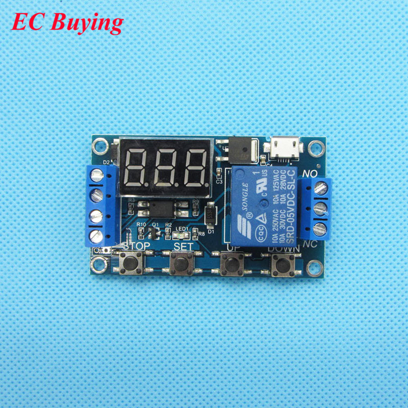 1 Channel 5V Relay Module Time Delay Relay Module Trigger OFF / ON Switch Timing Cycle 999 minutes for Arduino Relay Board Rele(China (Mainland))