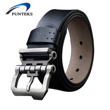 Buy FUNTEKS2017 Brand Designer Belts Men High Cow Genuine Leather Men Belt Pin Buckle Mens Belts Luxury Strap Ceinture Homme for $11.26 in AliExpress store