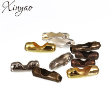Buy XINYAO 200pcs Diameter 1.5 2 3.2 mm Ball Chain Connectors Clasps Gold/Silver Color Copper Connectors DIY Jewelry Making F14 for $2.09 in AliExpress store