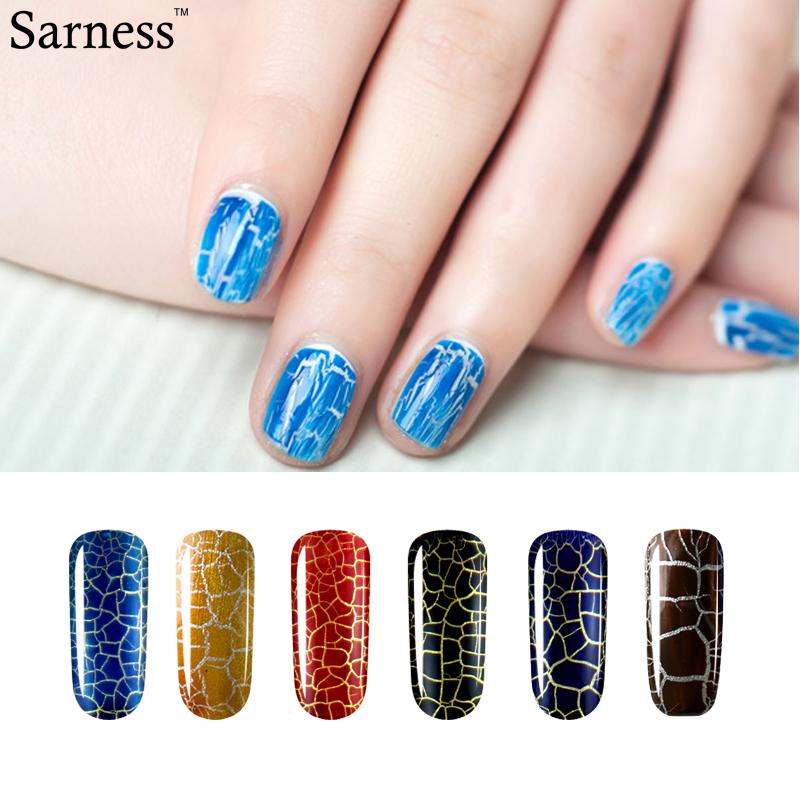 sarness 8ml Cracking gel Varnish Lacquer Professional 12 Colors Crack UV LED Soak Off UV Nail Polish Crackle cheap Gel(China (Mainland))