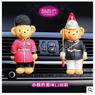 Free shipping 2015 Hot Sale Big Brand Carton Bear Car Vent Perfume Balm Car Air Freshener Car Perfume Oxygen bar(China (Mainland))