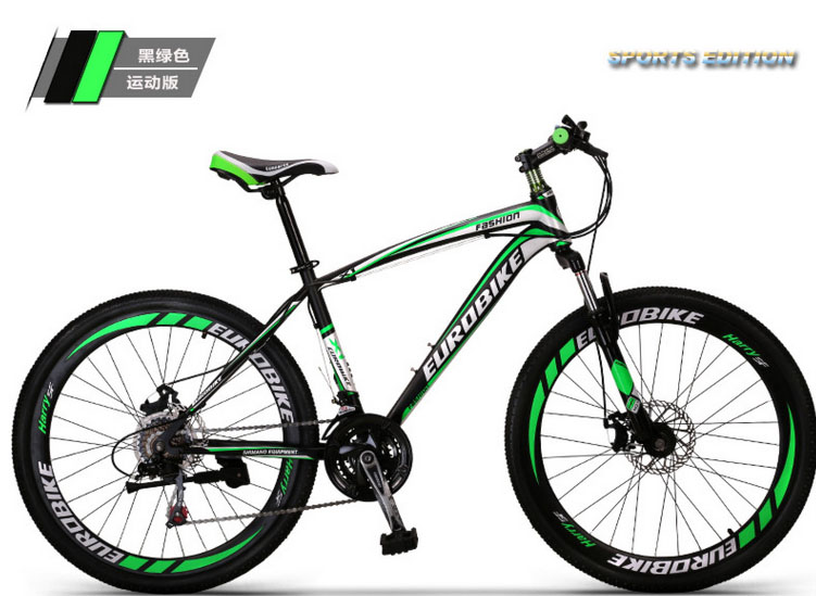 """26""""*17"""" inch MTB double disc brake moutain bike 26 inch bicycle TX30 21 speed bike high carbon steel frame(China (Mainland))"""