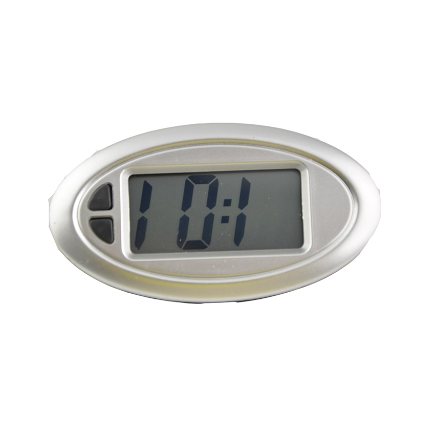 smart mini digital clock portable oval shape car auto. Black Bedroom Furniture Sets. Home Design Ideas