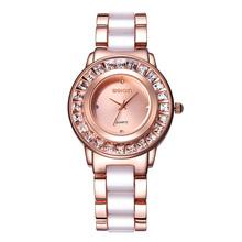 WEIQIN Rhinestone Rose Gold Steel Wrist Watch Women Luxury Brand Fashion Ladies Dress Watches Analog Quartz Watch Montre Femme